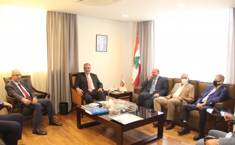 Minister George Boukachian meets Mr Ahmad Houteit with a Delegation