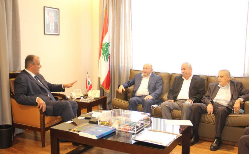 Minister George Boukachian meets a Delegation from Labour Syndicate