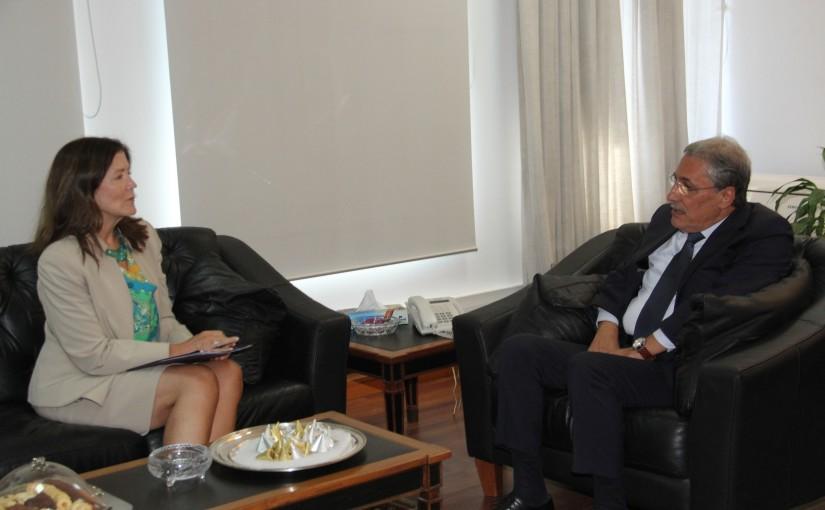 Minister Henry Khoury meets US Ambassador