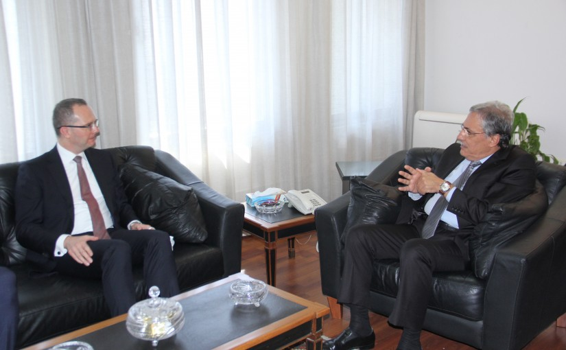 Minister Henry Khoury meets Turkish Ambassador