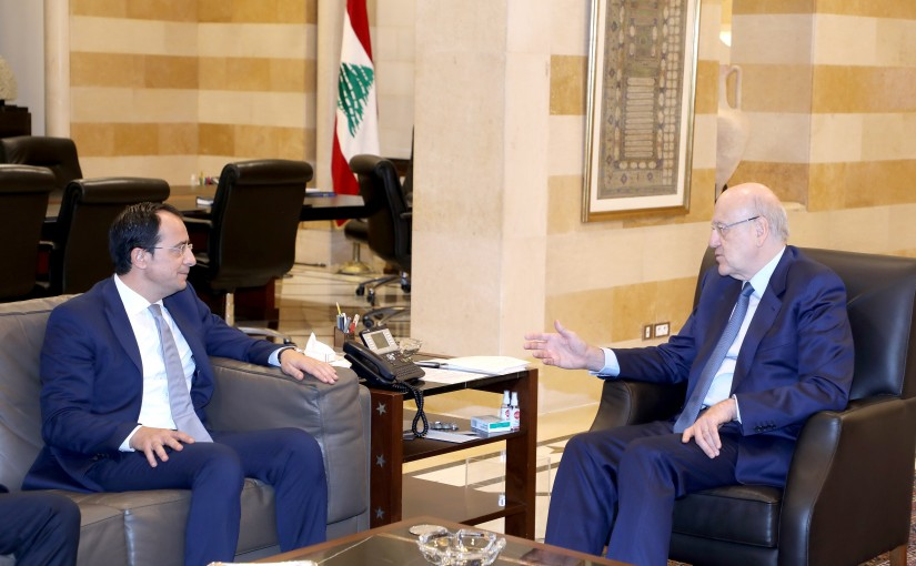 Pr Minister Najib Mikati meets Cyprus Minister of Foreign Affairs