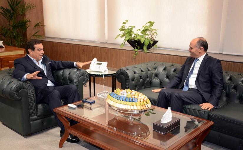 Minister George Kordahi meets Tunisian Ambassador