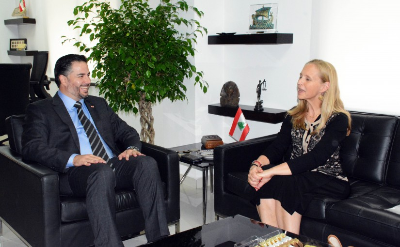 Minister Amine Salam meets Canadian Ambassador