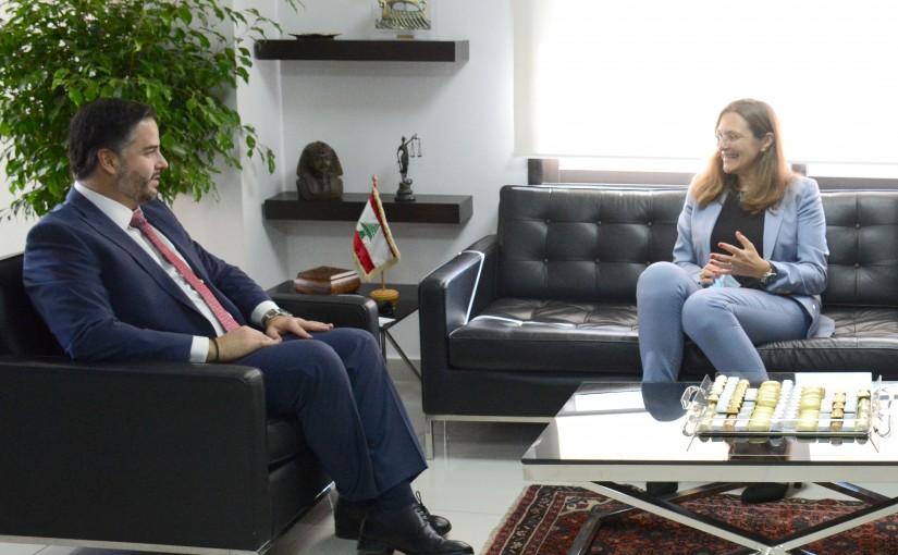 Minister Amine Salam meets Denmark Ambassador