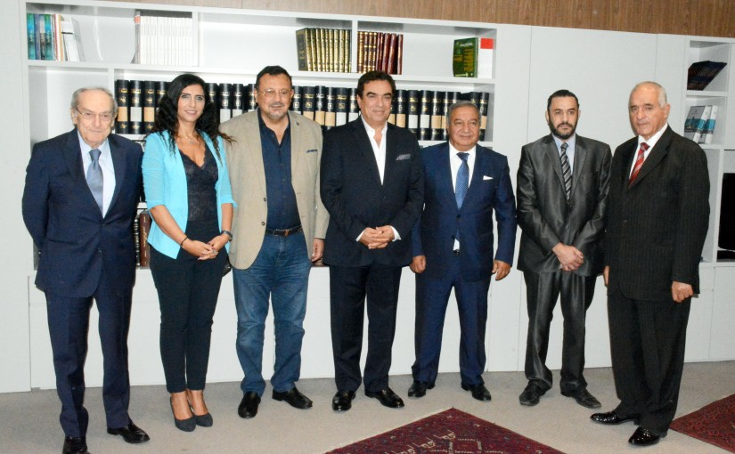 Minister George Kordahi meets a Delegation from Press Syndicate