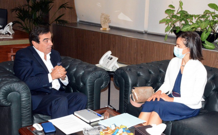 Minister George Kordahi meets a French Delegation