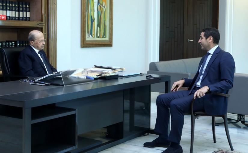 President Michel Aoun meets MP Eddie Maalouf