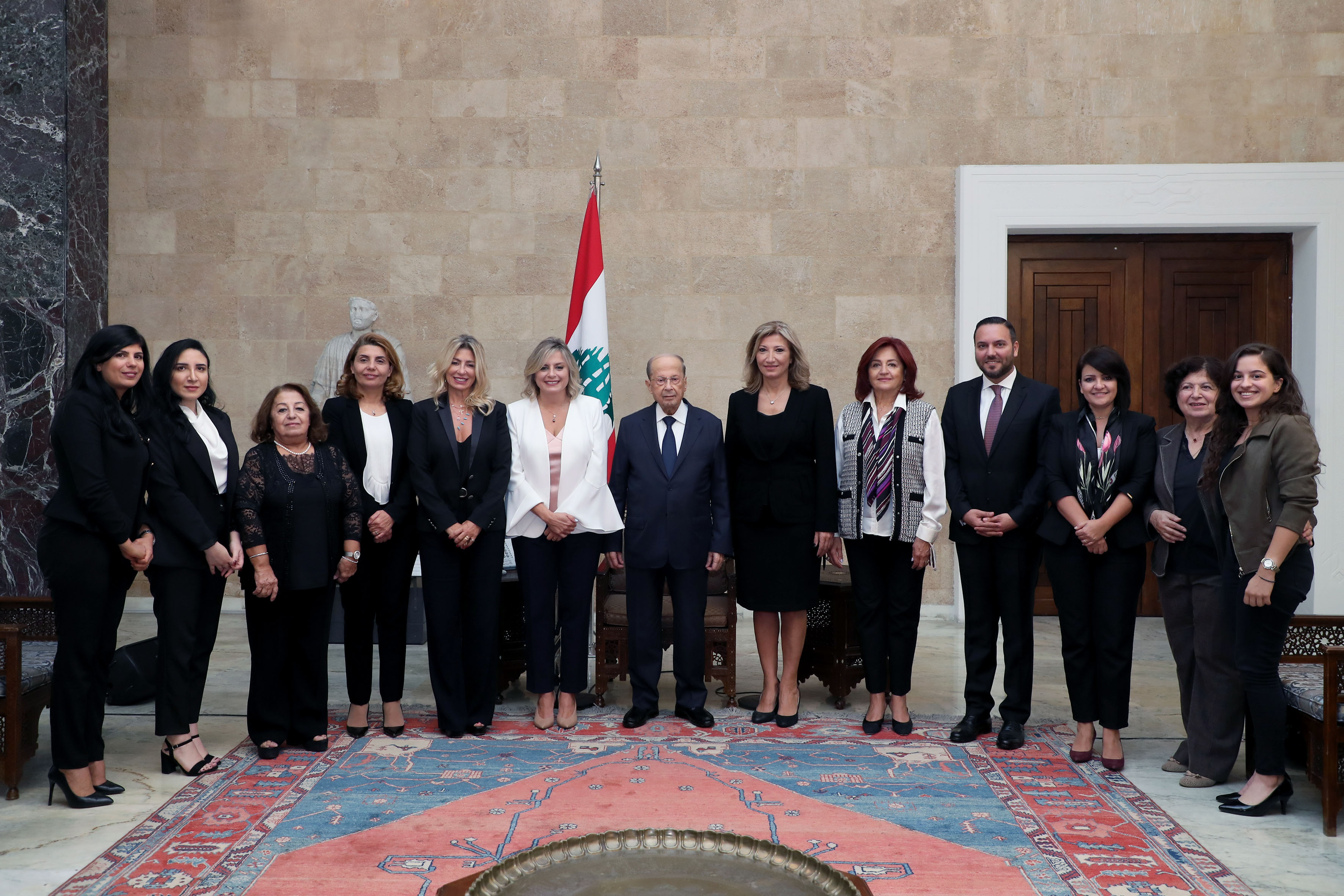 Mrs. Claudine Aoun with delegation (NCLW)