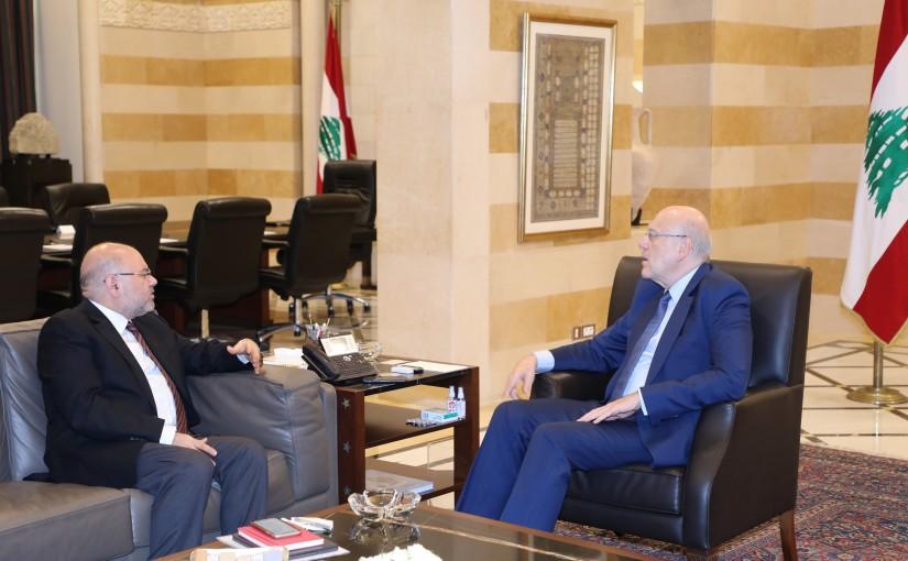 Pr Minister Najib Mikati meets Minister Firas el Abyad