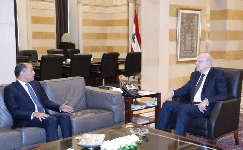 Pr Minister Najib Mikati meets Tunisian Ambassador
