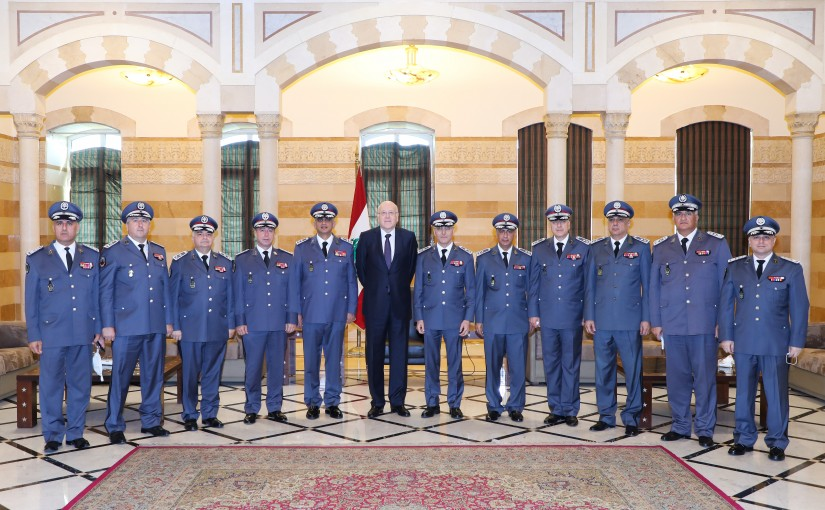 Pr Minister Najib Mikati meets a Delegation from Security Forces