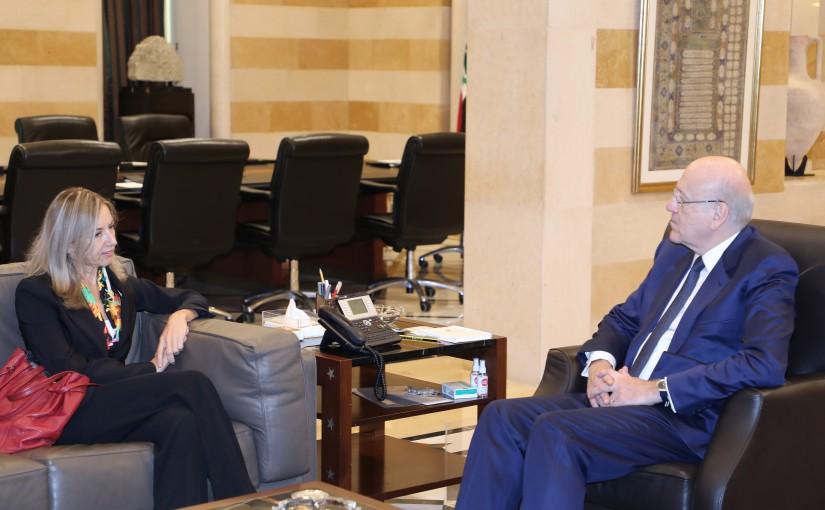 Pr Minister Najib Mikati meets Italian Ambassador