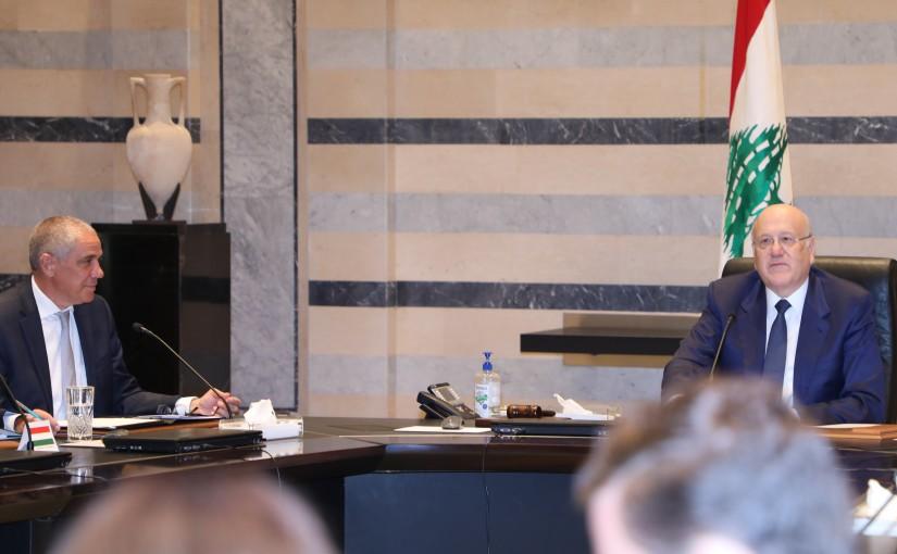 Pr Minister Najib Mikati meets a Delegation from European Ambassador