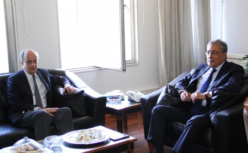 Minister Henry Khoury meets Spanish Ambassador