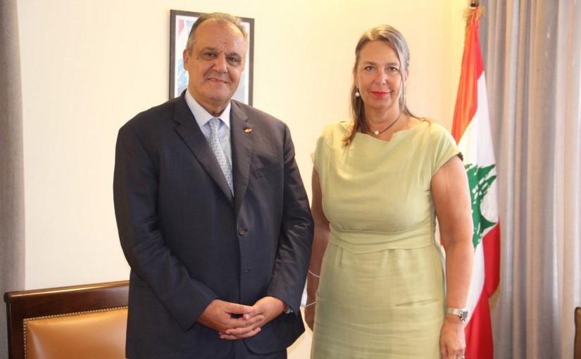 Minister George Boukachian meets Swiss Ambassador