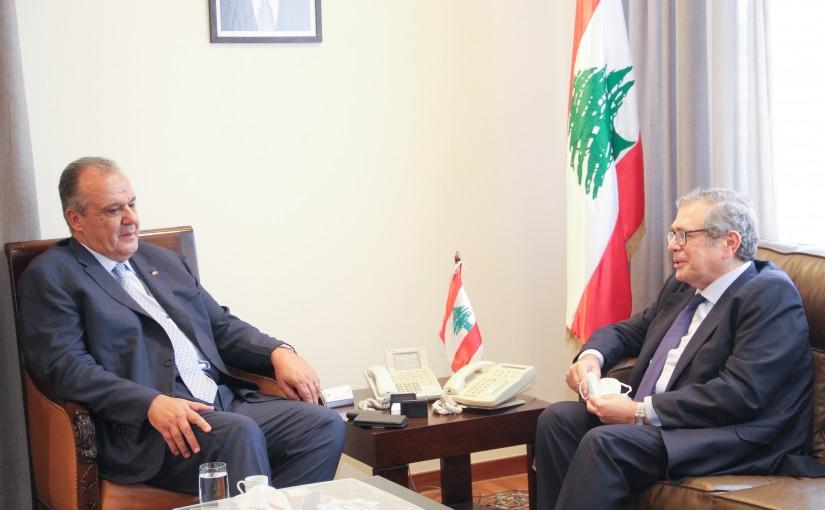 Minister George Boukachian meets Mr Fadi Gemayel