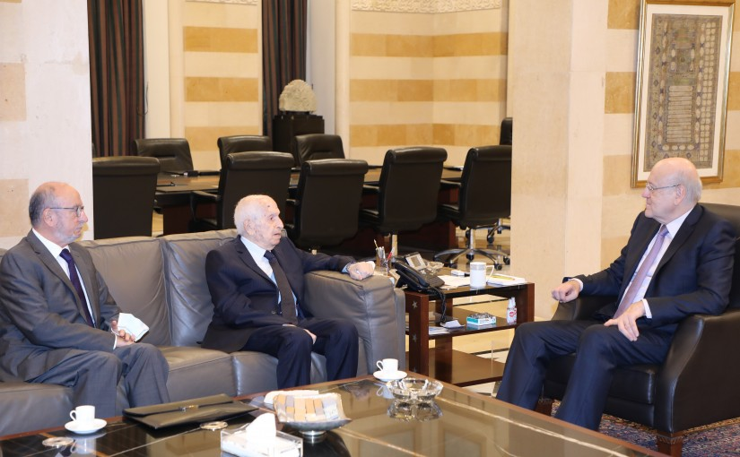 Pr Minister Najib Mikati meets Mr Mouine Hamze