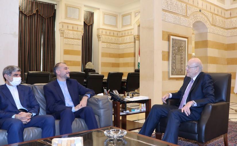 Pr Minister Najib Mikati meets Iranian Foreign Affairs