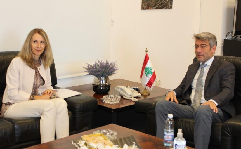 Minister Walid Fayad meets Italian Ambassador