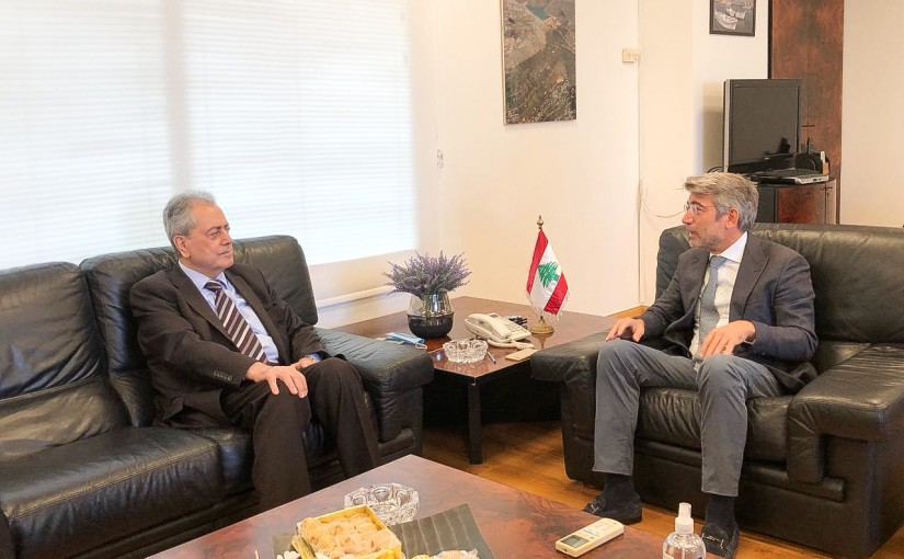 Minister Walid Fayad meets Syrian Ambassador