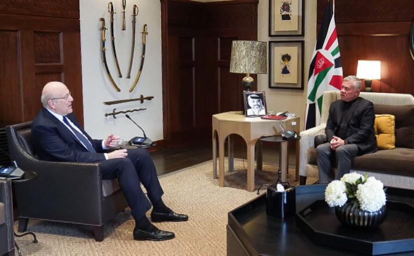 Pr Minister Najib Mikati meets King of Jordan Abdullah