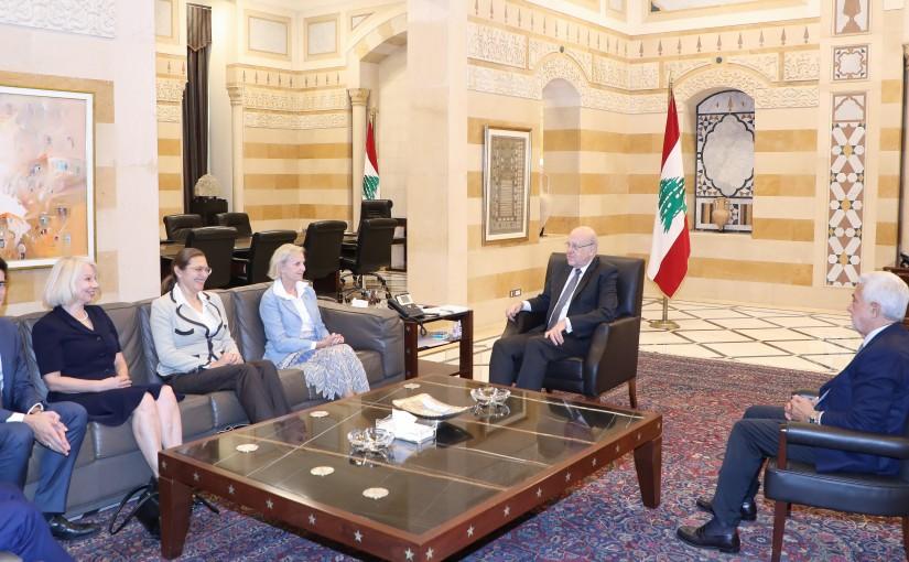 Pr Minister Najib Mikati meets Swiss Ambassador with a Delegation