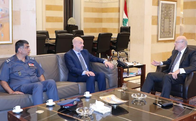 Pr Minister Najib Mikati meets Minister Bassam el Mawlaoui