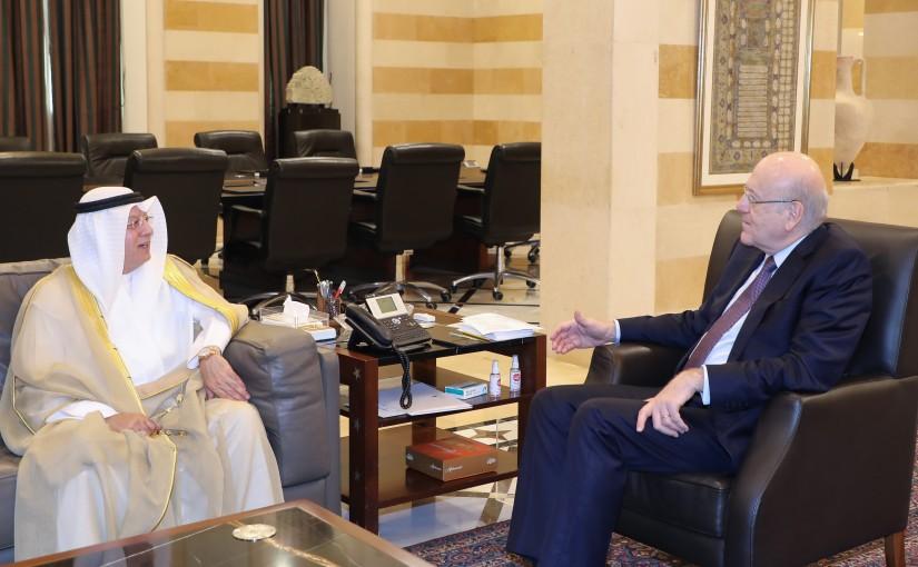 Pr Minister Najib Mikati meets a Kuwaiti Delegation