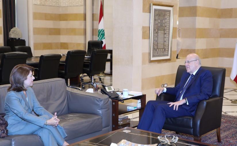 Pr Minister Najib Mikati meets Greek Ambassador
