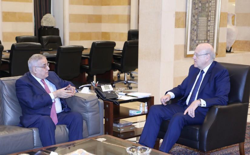 Pr Minister Najib Mikati meets Minister Abdullah Abi Habib