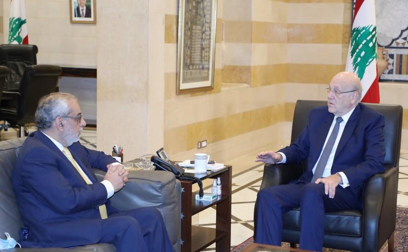 Pr Minister Najib Mikati meets MP Aghop Pakradounian