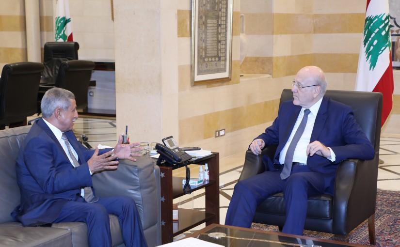 Pr Minister Najib Mikati meets Yemen Ambassador