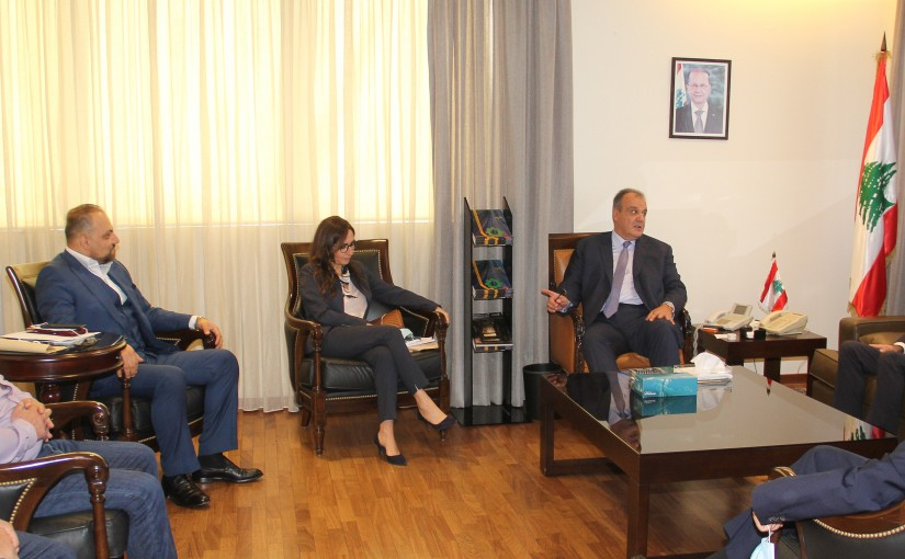 Minister George Boukachian meets Mr Habib Ghazir with a Delegation