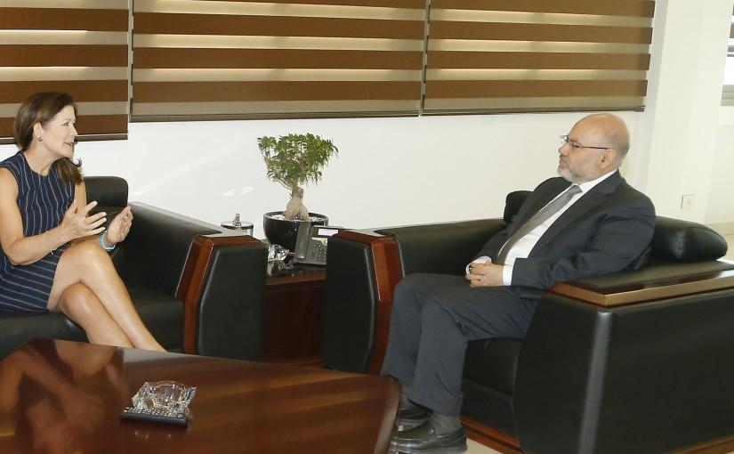 Minister Firas el Abyad meets US Ambassador