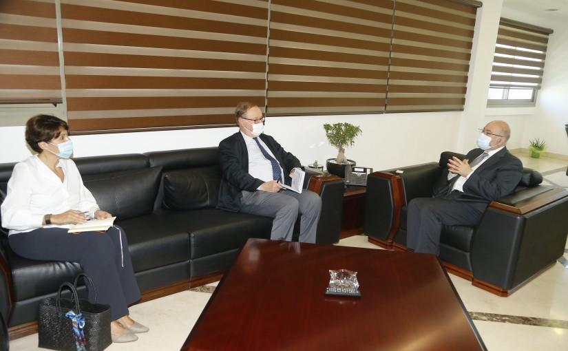 Minister Firas el Abyad meets Mr Pierre Ducan