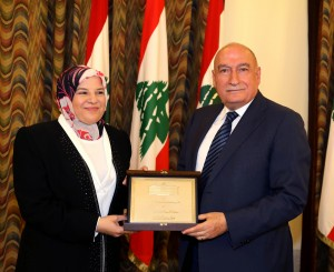 Mr Fouad Fleifel Honors Mrs Mirvat Itani at the Grand Serail 2