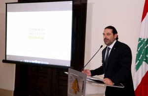 Pr Minister Saad Hariri Attends a Canference at the Grand Serail 1