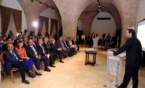 Pr Minister Saad Hariri Attends a Canference at the Grand Serail