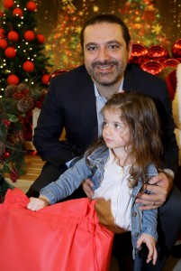 Pr Minister Saad Hariri Celebrating Christmas at the the Grand Serail 2