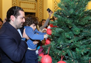 Pr Minister Saad Hariri Celebrating Christmas at the the Grand Serail 7