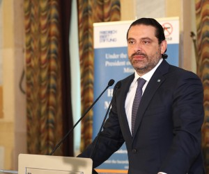Pr Minister Saad Hariri Ianaugurates a Conference at the Grand Serail 2