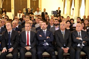 Pr Minister Saad Hariri Ianaugurates a Conference at the Grand Serail 7