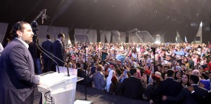 Pr Minister Saad Hariri Attends a Festival for Almustaqbal Womens Party 7