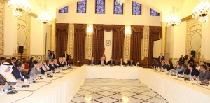 Pr Minister Saad Hariri Heading a Meeting for High Level Steering Committee 1