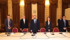 Pr Minister Saad Hariri Heading a Meeting for High Level Steering Committee 2