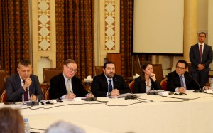 Pr Minister Saad Hariri Heading a Meeting for High Level Steering Committee 3