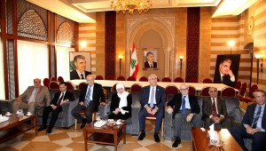 MP Bahiya Hariri meets a Delegation of Beirut Families 1