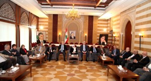MP Bahiya Hariri meets a Delegation of Beirut Families 2