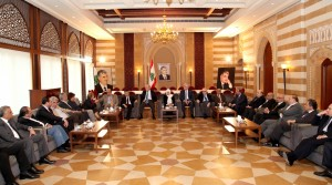MP Bahiya Hariri meets a Delegation of Beirut Families