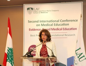 Mrs Lama Salam Attends the LAU Conference at Movenpick Hotel 1
